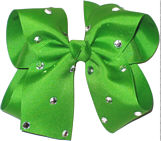 Large Apple Green Jeweled Bow