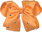 Large Creamsicle Jeweled Bow