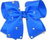 Large Electric Blue Jeweled Bow