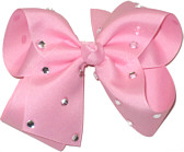 Large Pink Jeweled Bow