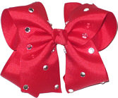 Large Red Jeweled Bow