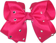 Large Shocking Pink Jeweled Bow