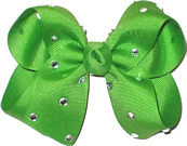 Medium Apple Green Jeweled Bow