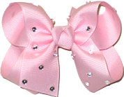 Medium Light Pink Jeweled Bow