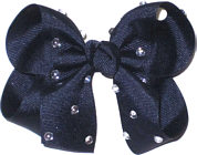 Medium Navy Jeweled Bow
