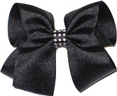 Black Large Bow with Clear Jewel Band