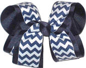 Large Navy with Navy and White Chevron