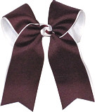 Large Two Layer Burgundy over White About 6 wide x 4 long tails Call for your color combination