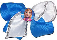 Toddler Anna Carribe with White and Silver on Alligator Clip