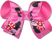Medium Minnie over Hot Pink