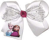 Large Anna and Elsa Bow with Swarovski Crystals
