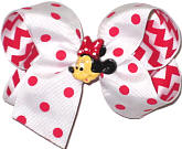 Medium White with Red Dots and Minnie Miniature