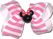 Toddler Hot Pink Stripe with Minnie Miniature
