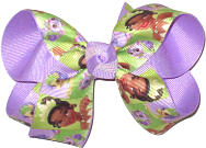 Medium Tiana over Light Orchid Double Layer Overlay Bow