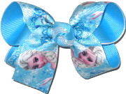 Medium Elsa over Mystic Blue Double Layer Overlay Bow