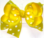 Medium Maize with White Dots Polka Dot Bow
