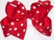 Medium Red with White Dots Polka Dot Bow