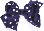 Medium Regal Purple with White Dots Polka Dot Bow