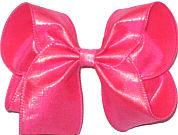 Large Neon Shocking Pink Dupioni Silk Bow. Ribbon is starched to help keep the bow's shape.