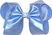Large Blue Dupioni Silk Bow. Ribbon is starched to help keep the bow's shape.