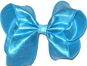Large Turquoise Dupioni Silk Bow. Ribbon is starched to help keep the bow's shape.