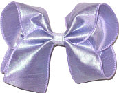 Large Light Orchid Dupioni Silk Bow. Ribbon is starched to help keep the bow's shape.