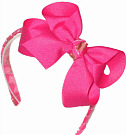 Medium Shocking Pink with Gold and Shocking Pink Wrapped Headband