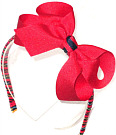 Red Medium Grosgrain Headband with Crayola Ribbon wrapped band