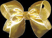 Medium Gold Lame' Bow