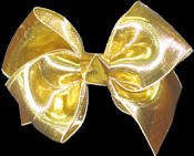 Toddler Gold Lame' Bow