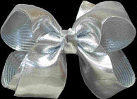Medium Silver Lame' Bow