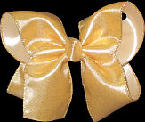 Large Gold Matte' Bow