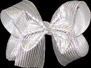 Large Silver Bow