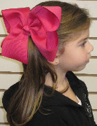 MEGA Extra Large Solid Color Hair Bow on Model