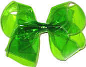 Large Green Jelly Bow