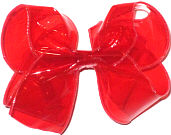 Large Red Vinyl Jelly Bow Jelly Bow