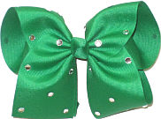 Mega Emerald with Rhinestones Jeweled Bow