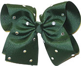 Evergreen with Rhinestones Jeweled Bow