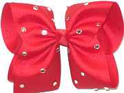 Mega Red with Rhinestones Jeweled Bow