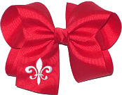 Red and White Fleur de Lis