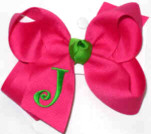 Shocking Pink and Apple Green Monogrammed Initial