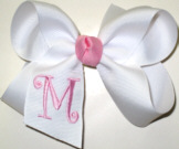White and Pink Monogrammed Initial