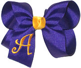 Regal Purple and Yellow Gold Monogrammed Initial