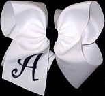 White and Navy Monogrammed Initial