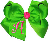 Apple Green and Shocking Pink Monogrammed Initial