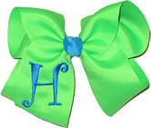Neon Green and Turquoise Monogrammed Initial