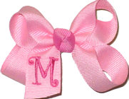 Light Pink and Hot Pink Monogrammed Initial