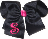 Black and Shocking Pink Monogrammed Initial