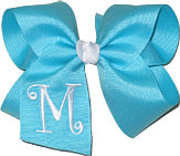 Navajo Turquoise and White Monogrammed Initial