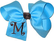 Mystic Blue and Brown Monogrammed Initial